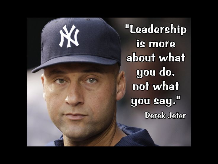 """Baseball Poster Derek Jeter Yankees Photo Quote Wall Art Print 5x7""""- 11x14"""" Leadership Is About What You Do Not What You Say - Free USA Ship by ArleyArtEmporium on Etsy"""