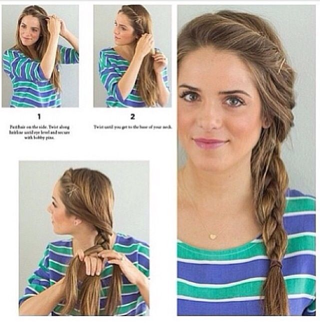 Simple, loose, side braid.