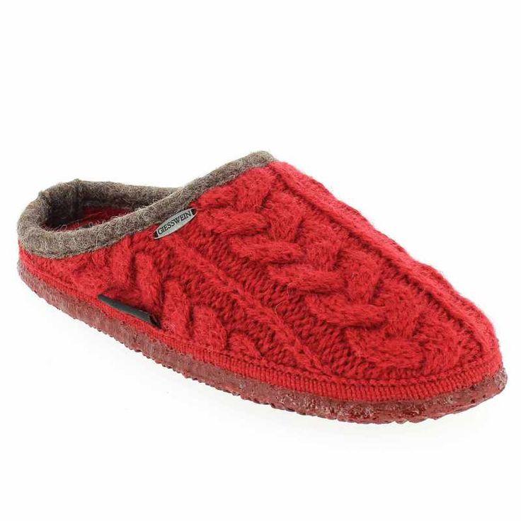 Chaussure Giesswein NEUDAU Rouge pour Femme | JEF Chaussures