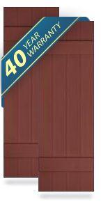 Board and Batten Exterior Shutters, Vinyl Shutters, Wood Shutters, Fiberglass Shutters, Exterior Window Shutters: ArchitecturalDepot.com -- Board-n-Batten Shutters -- by Architectural Depot - Call us today at: 888-573-3768