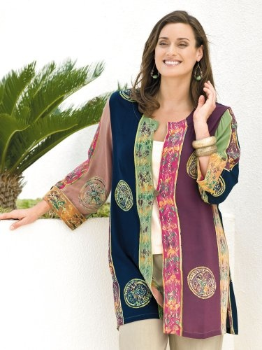 #Ulla #Popken Batik Long #Duster   really love it!   http://amzn.to/HmDBkX