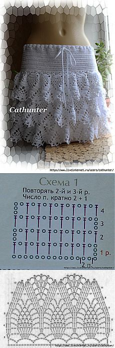 Blanca crochet falda