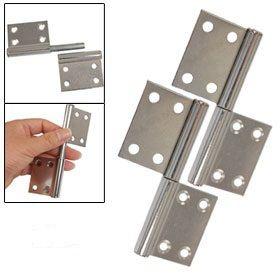 "Door Hardware Chrome Plated Metal 3.7"" Gates Flag Hinges 4 Pcs Free-in Door…"