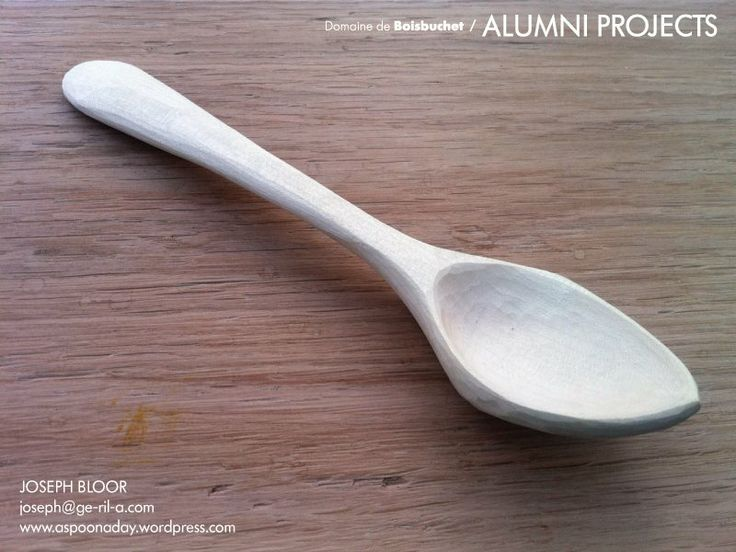 """""""A spoon a day"""" is the project that Joseph Bloor started 209 days ago with the objective of hand crafting wooden spoons for one year. This to develop his skills finishing work using only knives (no sanding). The project started on August 26th 2013 and is due to finish on August 25th 2014.   Joseph currently focuses his attention on hand crafted wooden items. He lives and works in London where he locally sources timber, traditional hand tools and human power."""