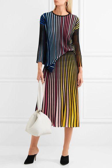 KENZO   Ribbed cotton-blend midi skirt   NET-A-PORTER.COM