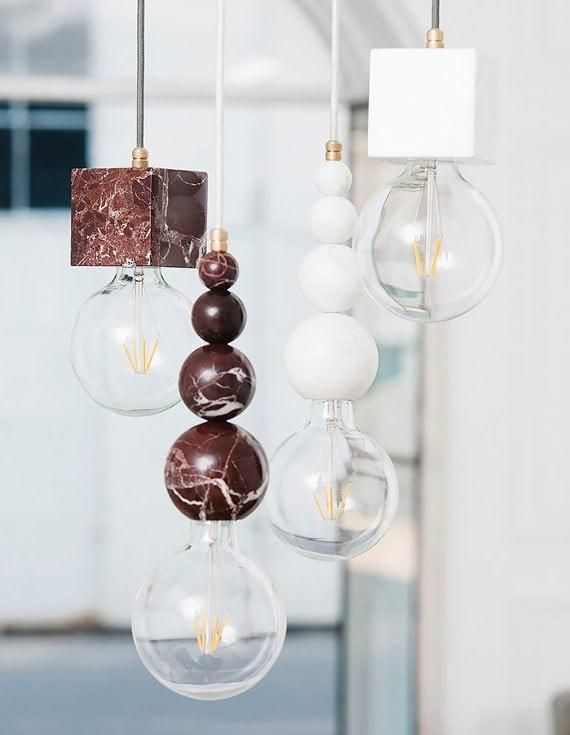 Marble Slipp Red Lamp | The Block Shop