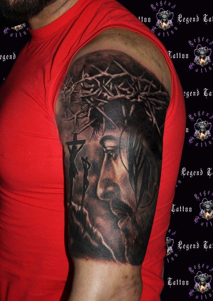 jesus tattoo,www.legendtattoo.gr,portrait jesus tattoo,religius tattoo,,portraitotattoo,xristos tattoo.