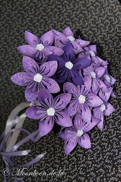 Fleurogami-Strauß violett-weiß | by phoenics11