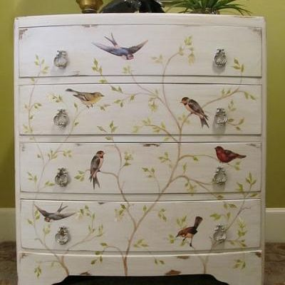 decoupage furniture - Google Search