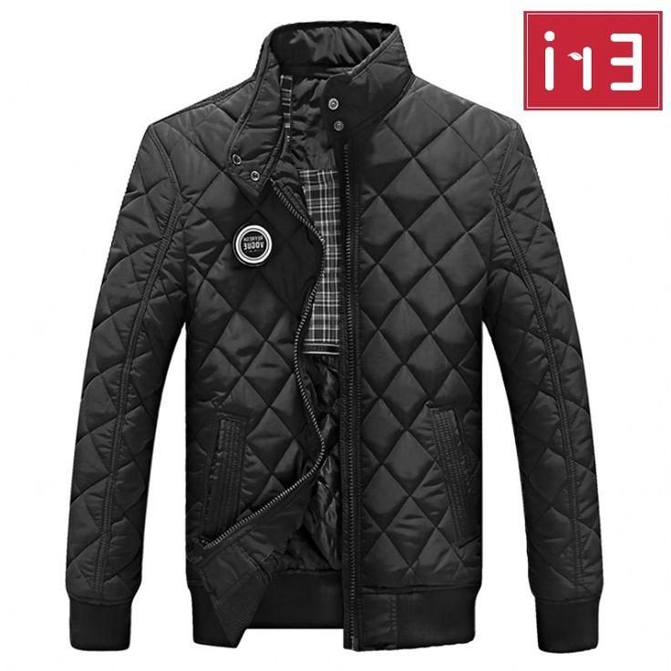 34.99$  Buy here - https://alitems.com/g/1e8d114494b01f4c715516525dc3e8/?i=5&ulp=https%3A%2F%2Fwww.aliexpress.com%2Fitem%2F2016-Casual-Jacket-Men-Warm-Coat-Black-Outwear-Chaquetas-Plumas-Hombre-Mens-Coats-Jackets-Stand-Collar%2F32726339267.html - 2017 Casual Quilted Jacket Men Warm Black Brand Outwear Chaquetas Plumas Hombre Mens Jackets Coat Stand Collar Slim Clothes X322