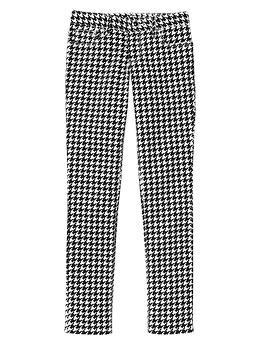 Super skinny houndstooth pants
