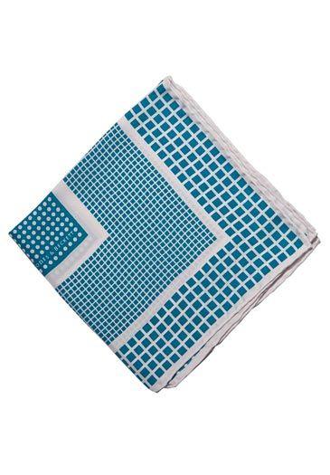 Rhodes & Beckett - Blue Ray Multi Check (Mens Handkerchief)