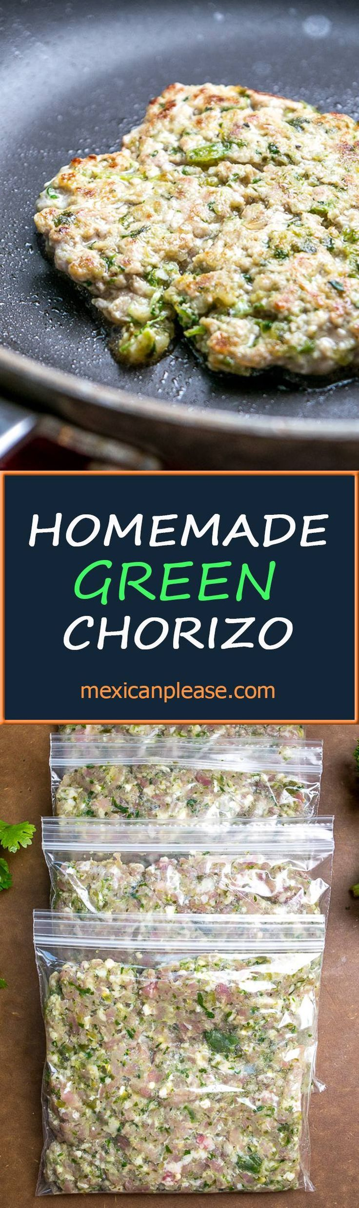 Here's a recipe for a vibrant homemade green chorizo that uses poblanos and serranos to really spice things up.  Perfect for egg dishes, tacos, and burritos.  It's surprisingly easy to make too!   mexicanplease.com