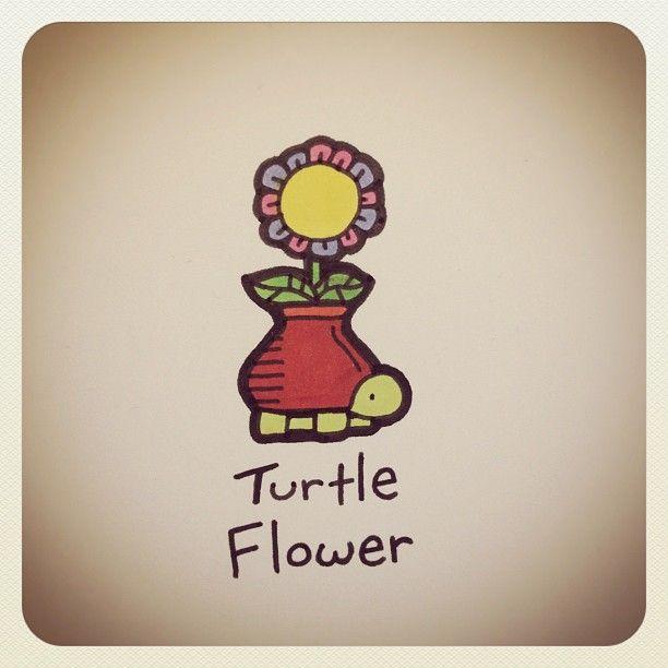 Turtle Flower #turtleadayjune - @turtlewayne- #webstagram