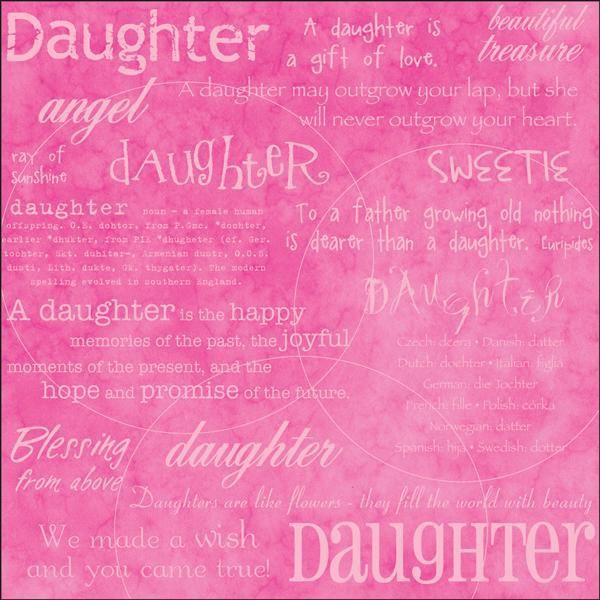 "Daughter 12"" x 12"" Scrapbook Paper"