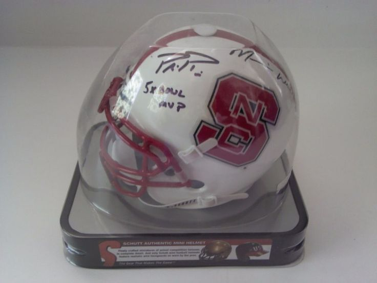 North Carolina State Philip Rivers Mario Williams Autograph Schutt Mini Helmet #Schutt #NorthCarolinaState