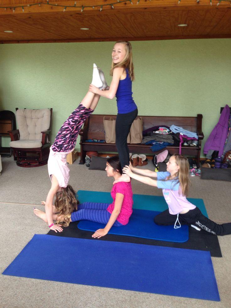 Acro Yoga 4 Person Acroyoga Challenge 4 People Yoga Poses Acro Yoga Poses Yoga Challenge