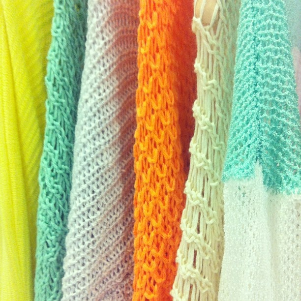 coloured knits