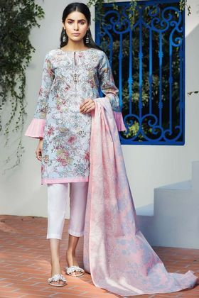 480eca4824 Khaadi 2 Piece Custom Stitched Embroidered Lawn Suit - Blue - M18104 | A  new 2018 in 2019 | Pakistani dresses, Pakistani outfits, Dresses