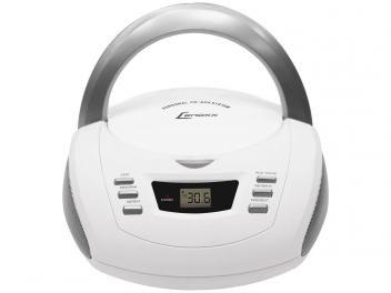 Rádio Portátil AM/FM 20 Faixas c/ Entrada Auxiliar - CD Player - Lenoxx BD 112