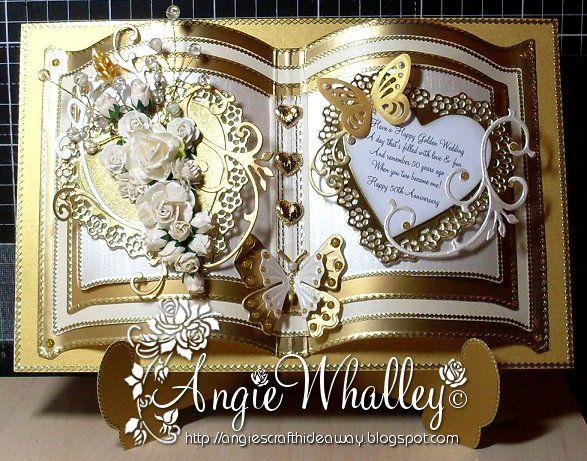 Handmade 50th anniversary Cards | ngies~ Craft Hideaway: 50th (Golden) Wedding Anniversary :)