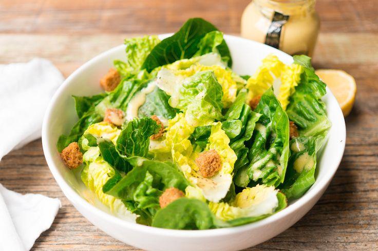 Groene saladade met Franse vinaigrette