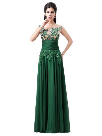 kup Ladylike Style Strapless Chiffon Evening Dress & Suknie na ślub i eventy - w Jollychic