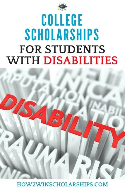 College Scholarships for Students with Disabilities #college #scholarships #ScholarshipMom