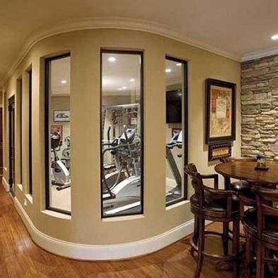 Traditional Home Gym Design, Pictures, Remodel, Decor And Ideas. Basement  ...