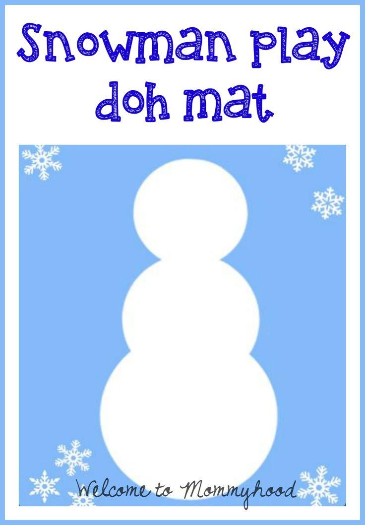 Playdough Activities: Winter snowman play doh mat printable by Welcome to Mommyhood #freeprintables, #playdoughactivities, #homeschool, #preschoolactivities, #finemotoractivities