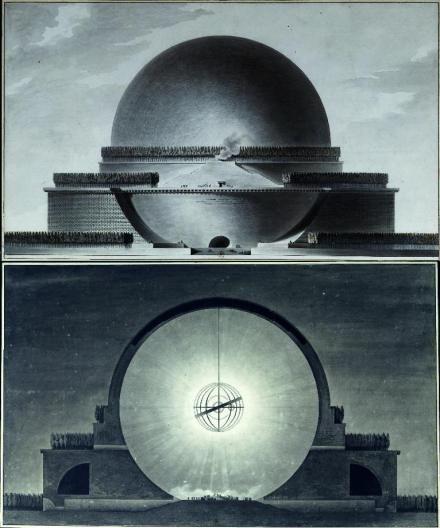 Cenotafio de Newton: Boullée, Étienne-Louis,