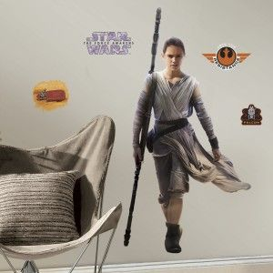 RoomMates RMK3149GM Star Wars EP VII Rey P&S Giant Wall Decal