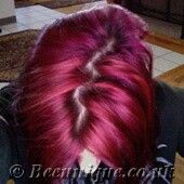 Special Effects Burgundy Wine over unbleached dark hair