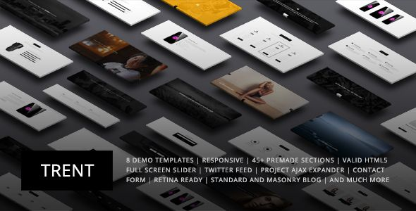 Trent - Responsive One Page Parallax Template - Creative Site Templates