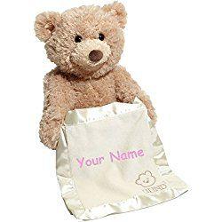 Personalized Animated Peek-A-Boo Teddy Bear Plush Stuffed Toy Animal