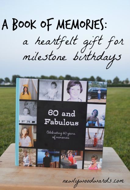 A Book Of Memories For Milestone Birthday