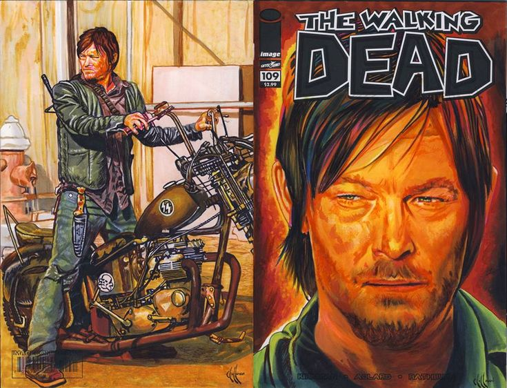 Daryl Dixon Walking Dead variant cover by choffman36 on deviantART