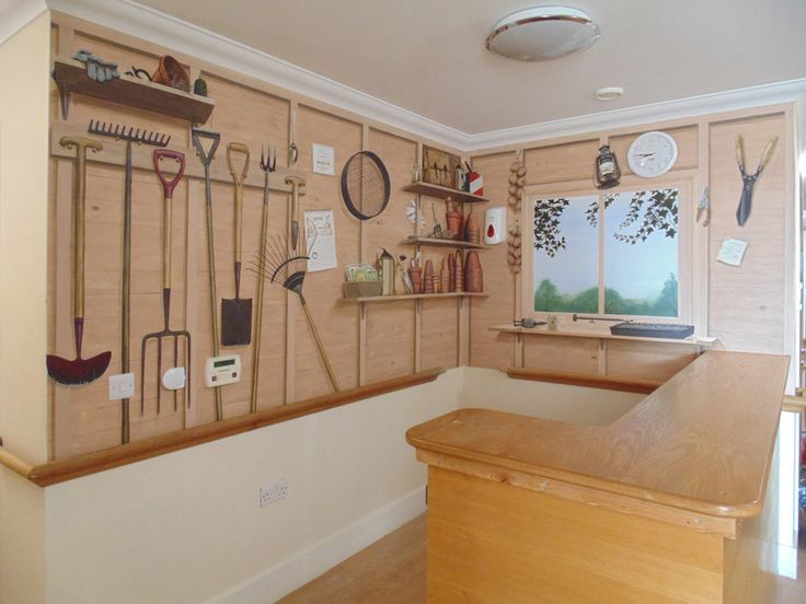 Gordon Collett: Murals, Nurses' Station murals for a Dementia Care Home, Berkshire. Autumn 2014.