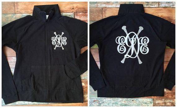 Monogrammed Majorette Jacket Warm up jacket by PoshPrincessBows1