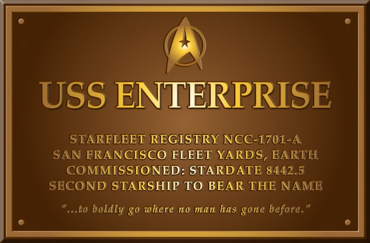 The dedication plaque of the USS Enterprise in ST4:TVH. Description from sulu.jp. I searched for this on bing.com/images