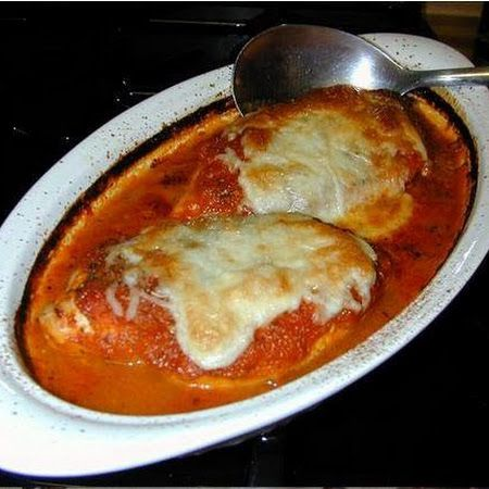 Low Carb Chicken Parmesan #keto #lchf #lowcarbs #diet #recipes