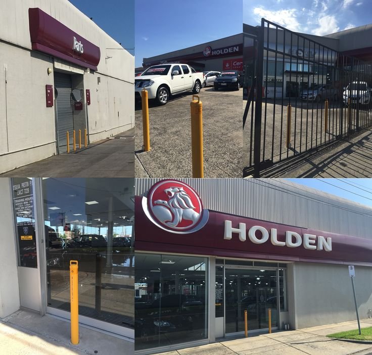 Australian Bollards secures car dealership facility with anti-ram raid removable bollards. Ralph D'Silva Holden in Preston required a security solution to deter potential thieves from gaining access and causing damage to hundreds of vehicles on their site. Australian Bollards manufactured and installed 23 CDKL90 removable key lockable bollards in powder coated yellow and 10 lock down kits for added protection on their roller doors.