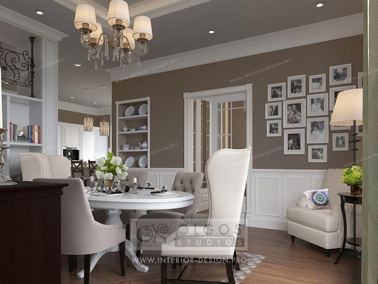 Beige dining room interior design http://interior-design.pro/en/house-interior-design