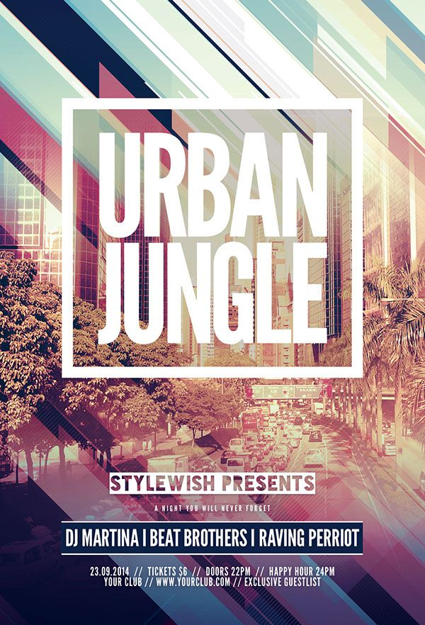 Urban Jungle Flyer by styleWish •, via Behance