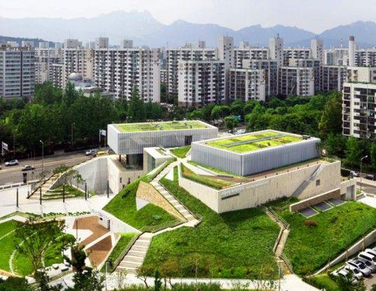 Garden Topped Buk Seoul Museum Of Art Is A Green Cultural