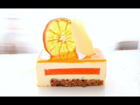 RECETA, mousse de mascarpone,confitado de zanahoria -naranja y bizcocho de zanahoria