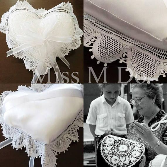 Anello nuziale cuscinoheart pillow Ring Bearer Pillow
