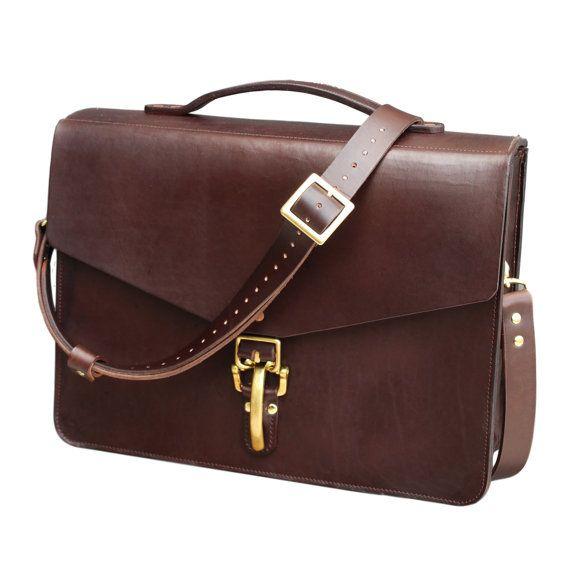 Leather Satchel Leather Bag Leather Laptop by OurWeddingInvites