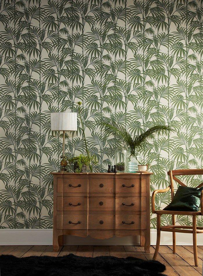Papier peint Honolulu Vert palmier par Graham and Brown