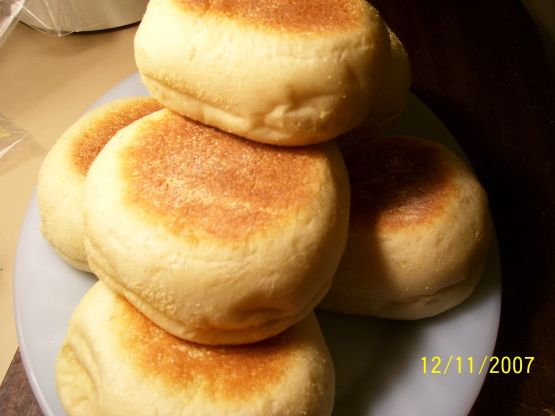 English Muffins in the Bread Maker